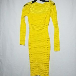 Perforated yellow dress